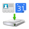 Backup contacts and calendars
